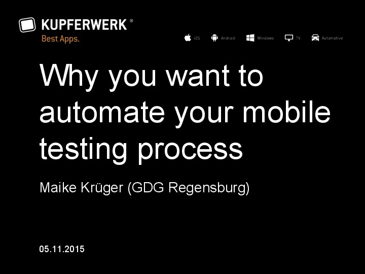 Why you should automate your mobile testing process