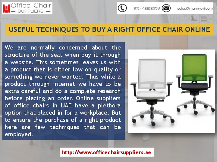 Best Techniques To Buy A Right Office Chairs in UAE