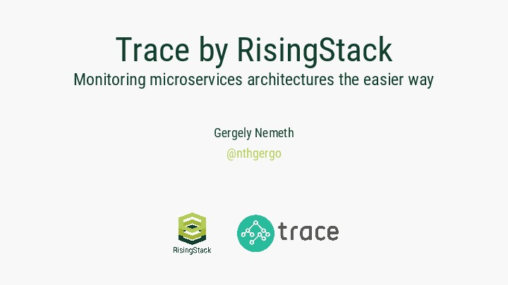 Trace by RisingStack - Monitoring Microservices