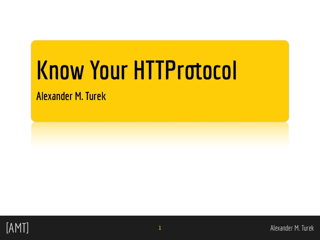 Know Your HTTProtocol