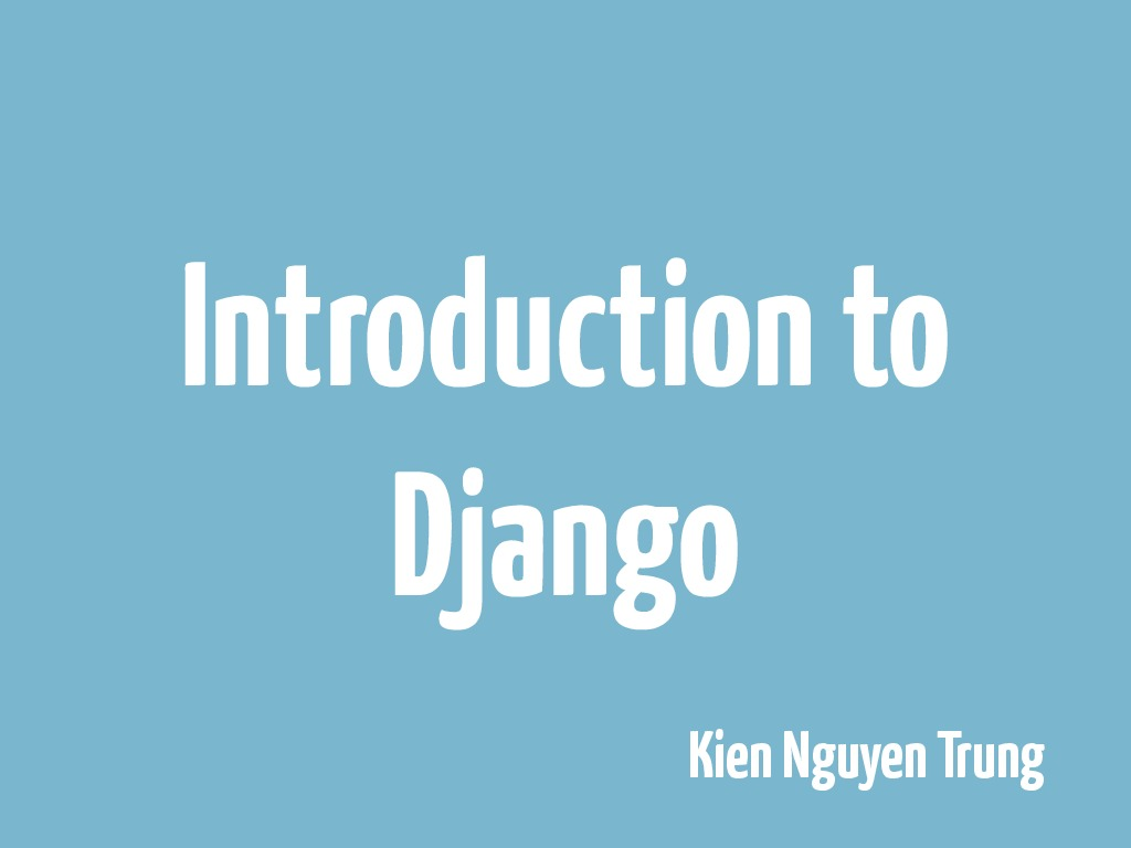 Introduction to Django v2