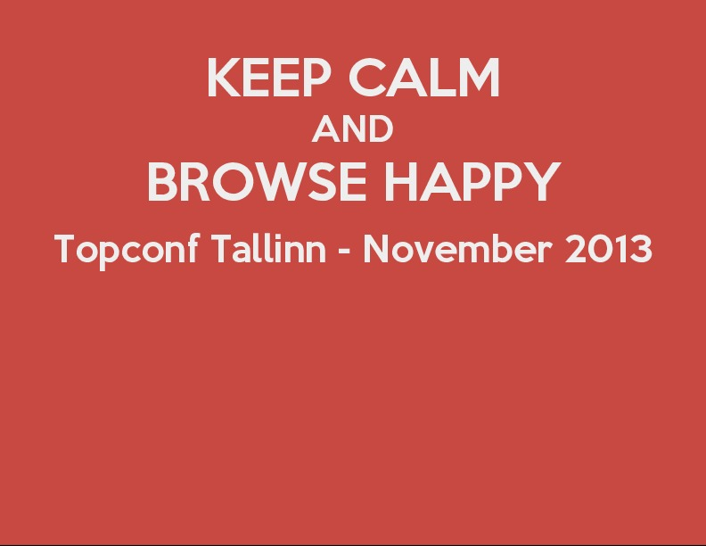 Keep calm and browse happy - Gaining speed on mobile browsers