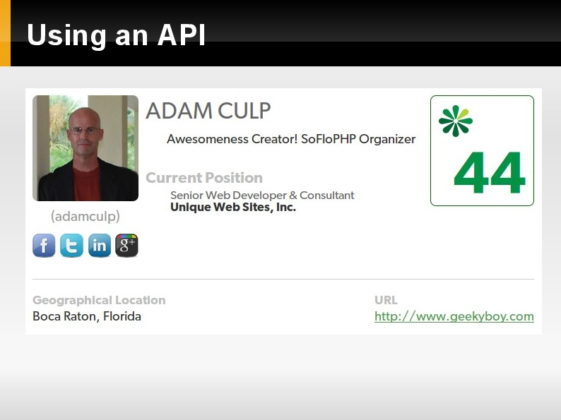 Using an API