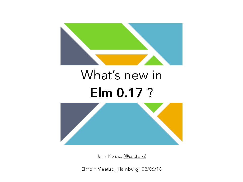 What's new in Elm 0.17