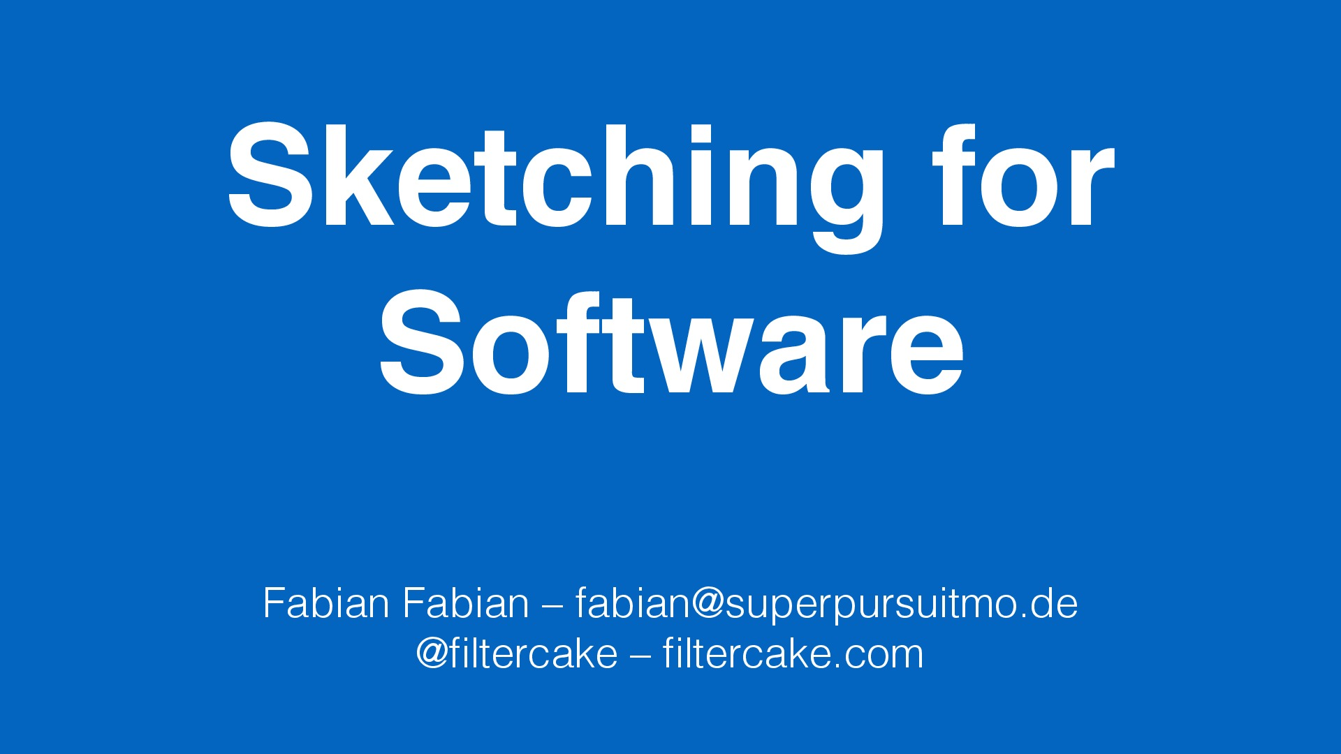 Sketching for Software (Mini Edition)
