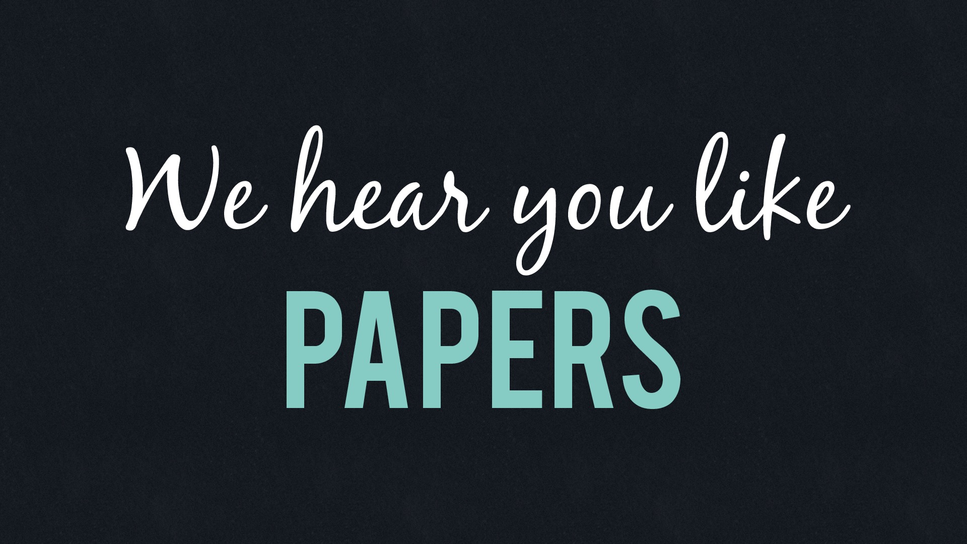 We hear you like papers - QCon Edition