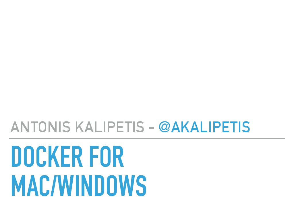Docker for Mac - Windows