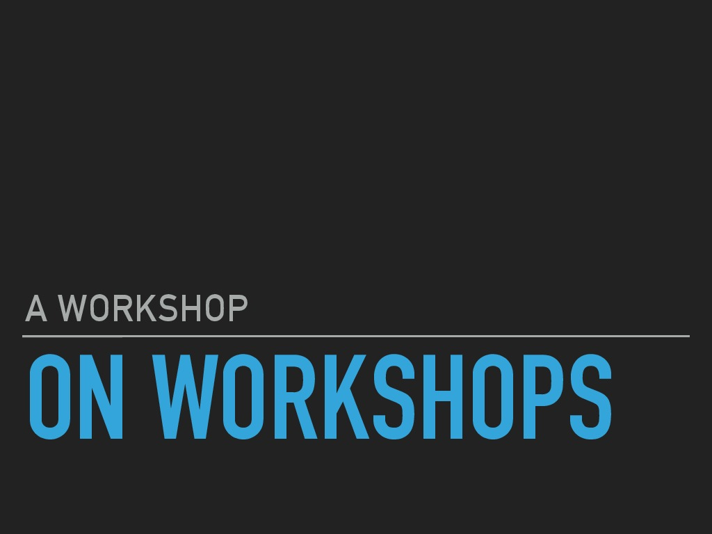 A workshop on workshops: Building APIs using Django Rest Framework