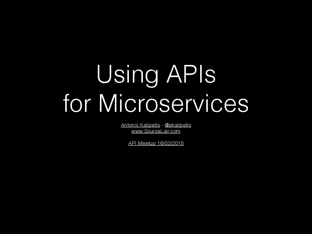 Using APIs for Microservices at SourceLair