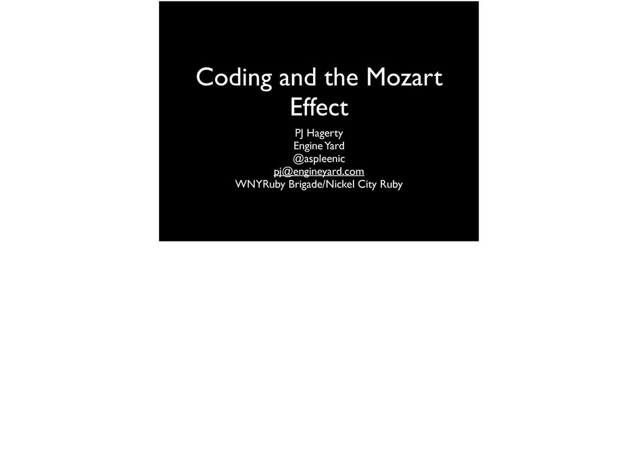 Coding and the Mozart Effect