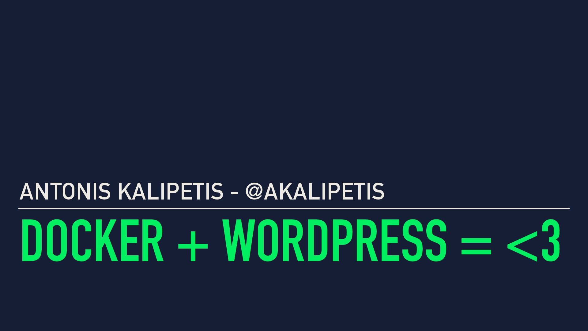 Docker + WordPress = <3