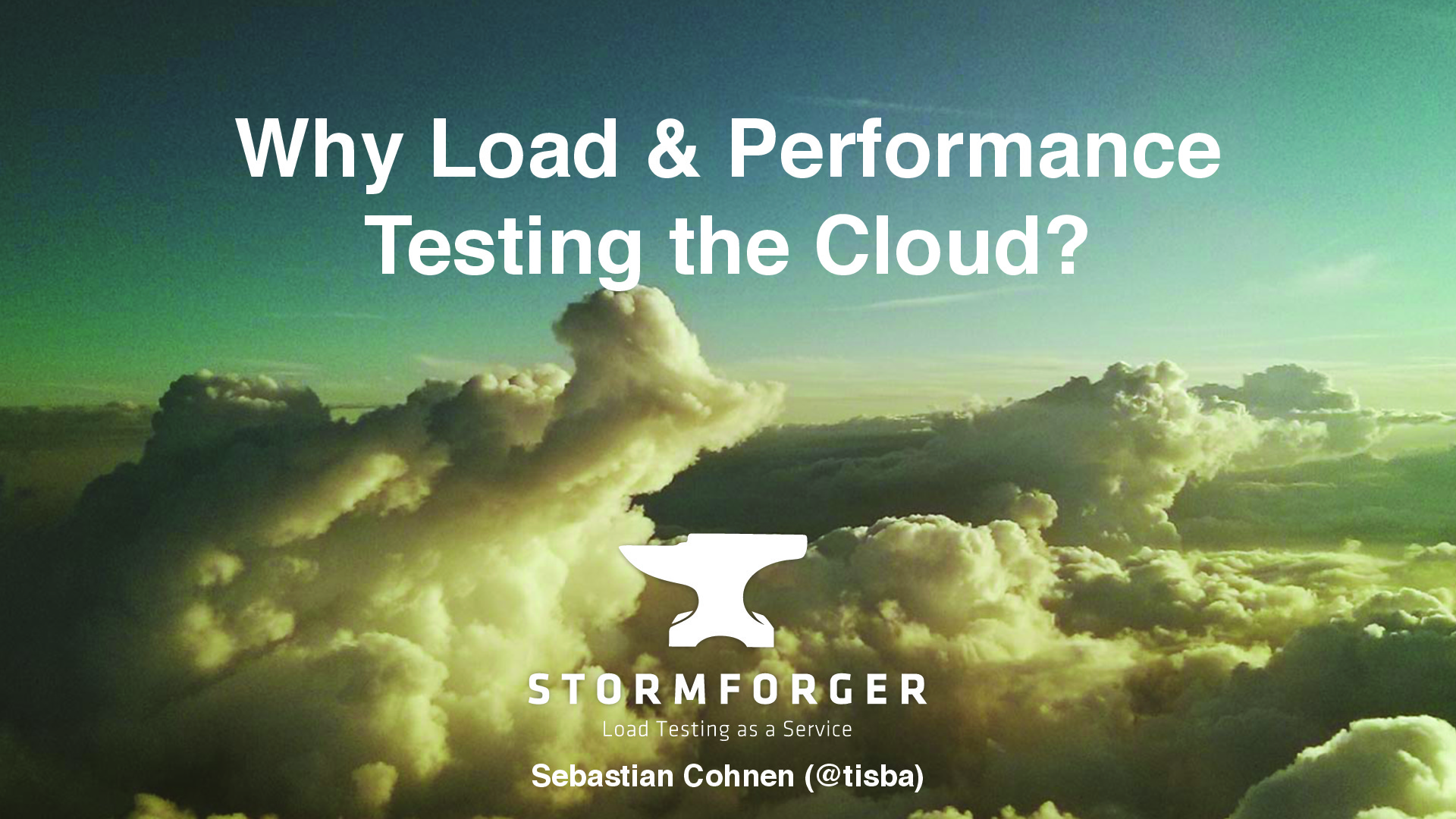 Why Load & Performance Testing the Cloud?