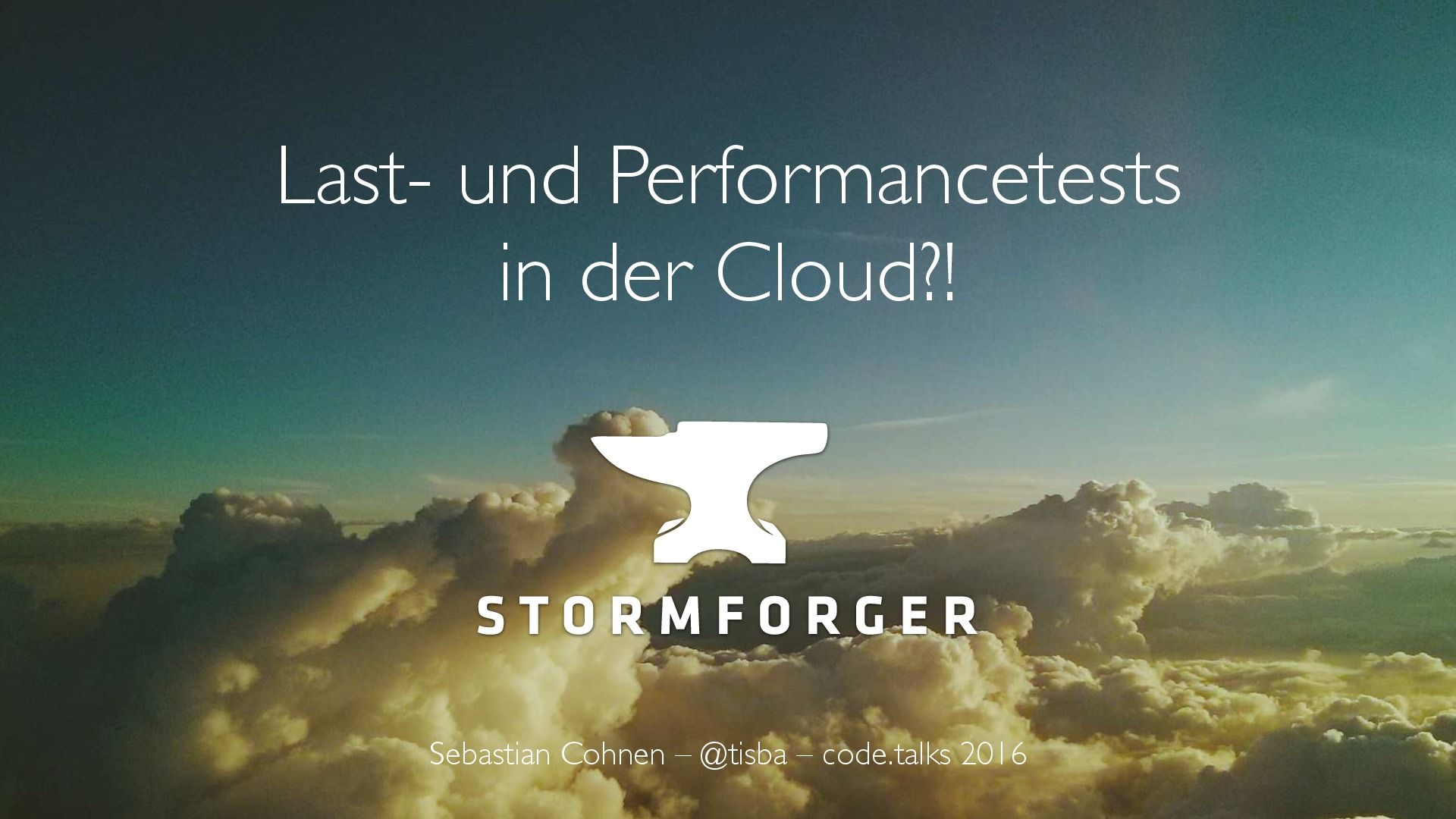 code.talks 2016: Last- und Performancetests in der Cloud [DE]