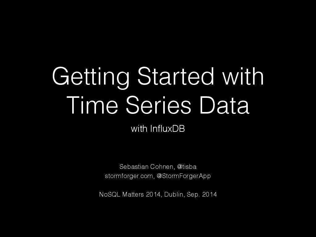 Getting Started with Time Series Data